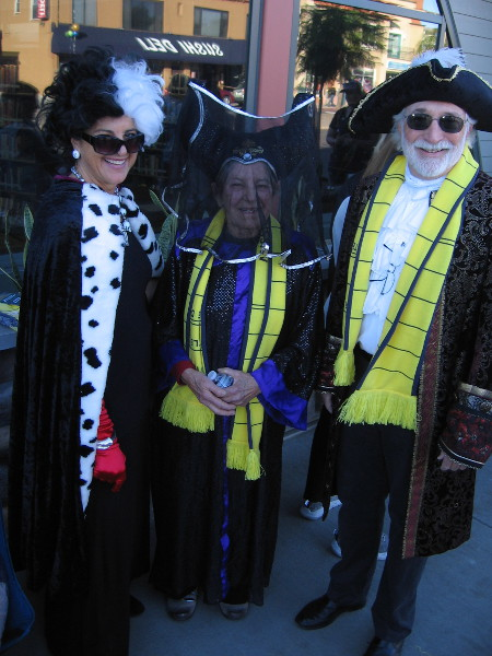I spotted Cruella de Vil, Maleficent and Captain Hook!