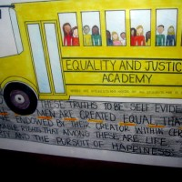 Student posters: Equality and Justice For All.