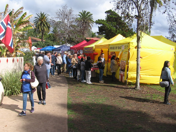 Food, culture and sunshine (and some sprinkling clouds) at the Chinese New Year Festival in Balboa Park.