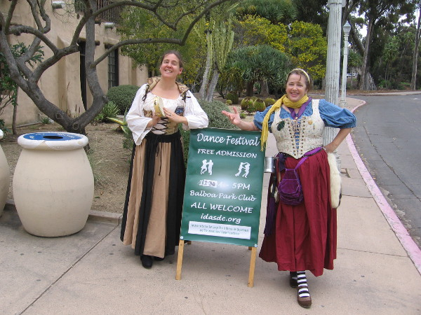 I was welcomed to the International Dance Festival in the Balboa Park Club.