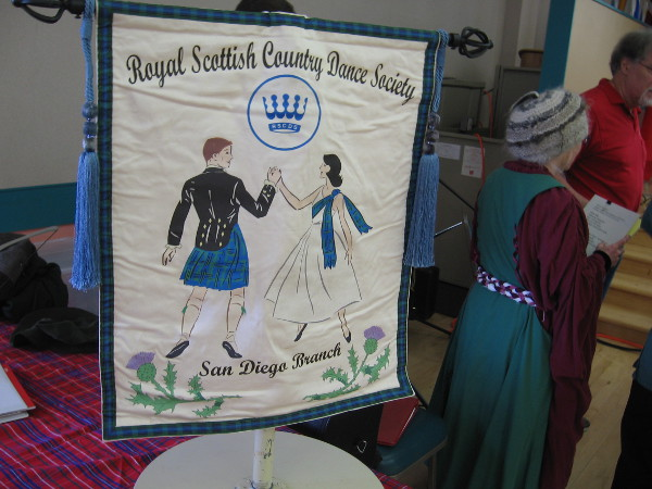 A banner of the Royal Scottish Country Dance Society.
