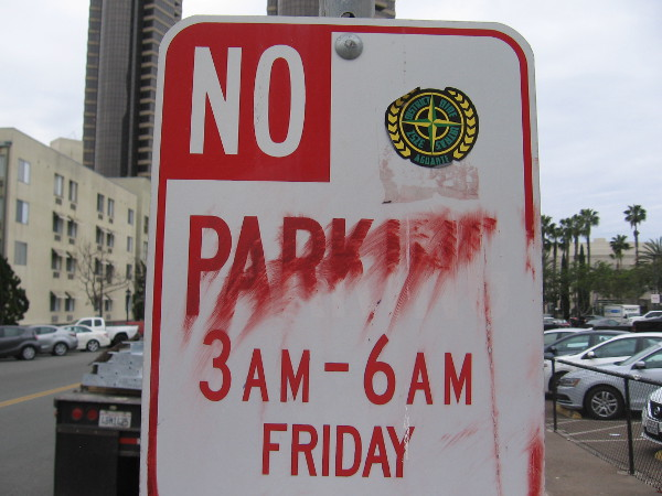 The PARKING is disappearing, and soon there will be none.