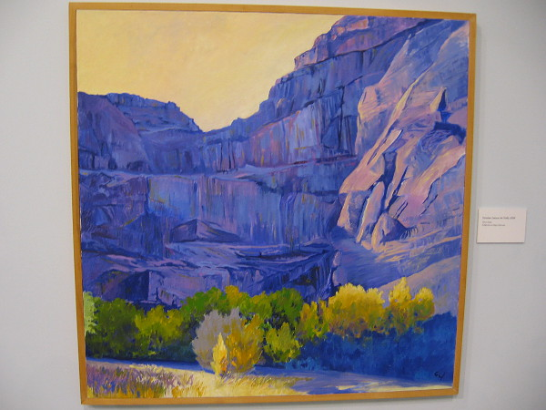 October, Canyon de Chelly, 2002, oil on linen.