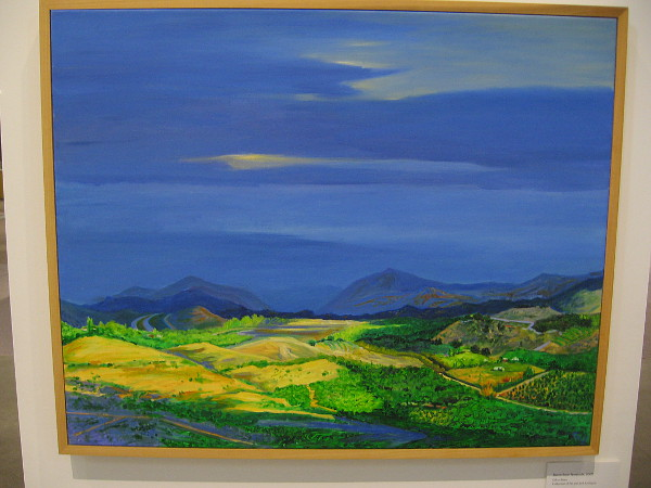 Storm from Temecula, 2001, oil on linen.