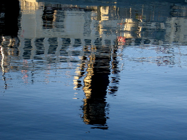 Reflection on the water of Steam Ferry Berkeley.