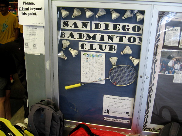 The San Diego Badminton Club is one of the sports groups that meets and plays regularly inside the Balboa Park Activity Center.