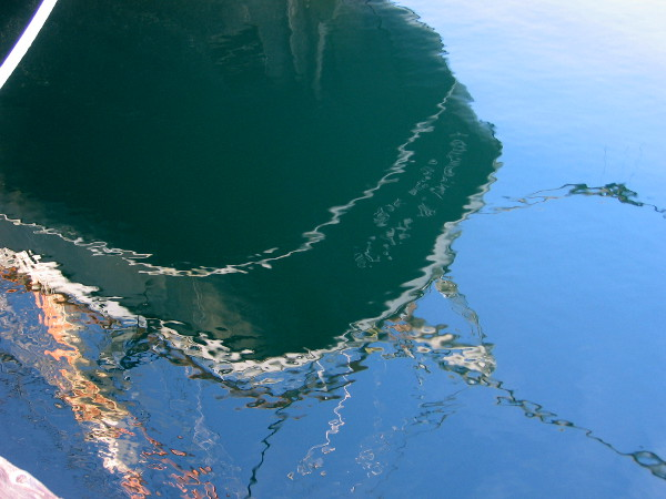 Reflection on the water of Star of India.