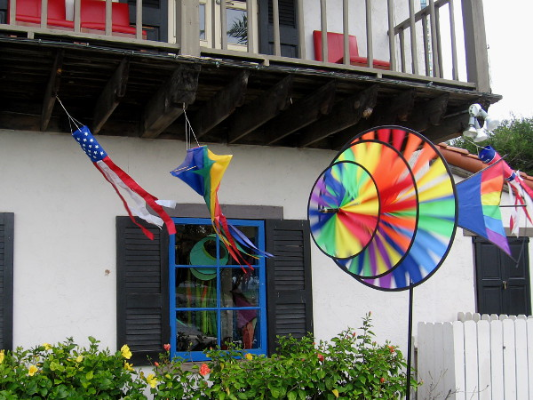 These colors were really flying at the Kite Flite shop!