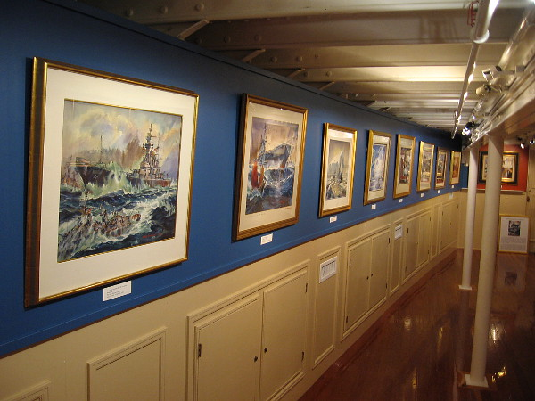 Extraordinary paintings by famed artist Arthur Beaumont fill the Gould Eddy Gallery in the Steam Ferry Berkeley, at the Maritime Museum of San Diego.
