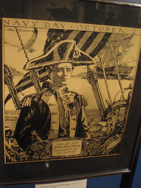 John Paul Jones on the USS Ranger, July 4, 1777, pen and ink, 1934. The Stuart Bourdon Collection.