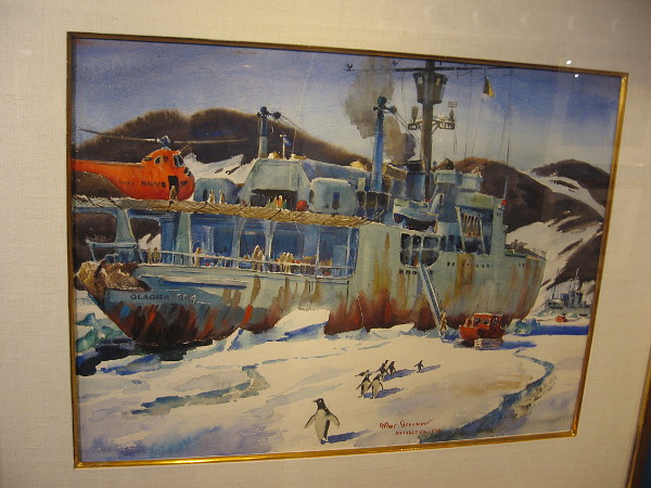 Relief of McMurdo, watercolor, 1959. The Irvine Museum Collection.