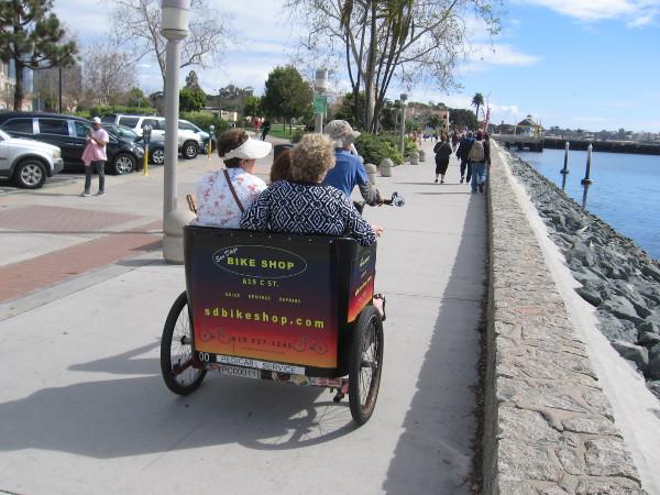 I think I recognize that pedicab driver.