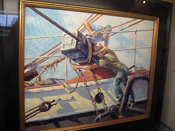 Bert and Wes Working on the STAR, by artist Jeffrey Remmer.