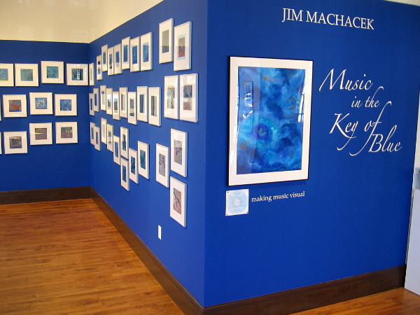 Jim Machacek: Music in the Key of Blue, inside the Athenaeum Music & Arts Library's Joseph Clayes III Gallery