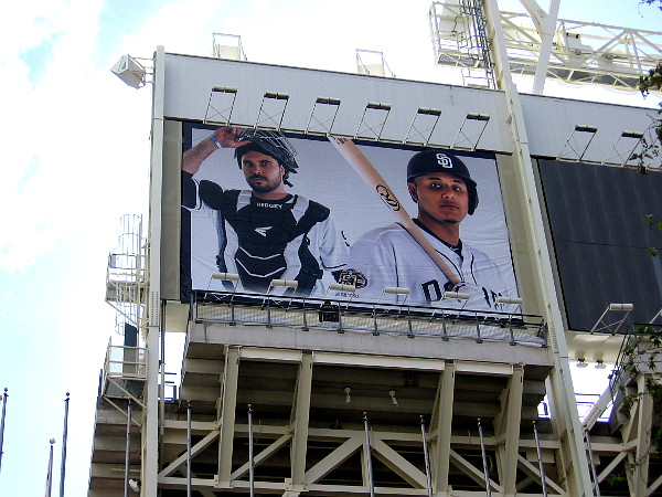 New graphics for the 2019 Padres baseball season are now being applied around Petco Park.