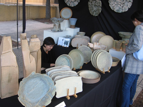These amazing Korean ceramics were all created by Yonsoo Chung, representing the House of Korea in Balboa Park.