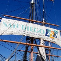 Banner celebrates San Diego's 250th Anniversary!