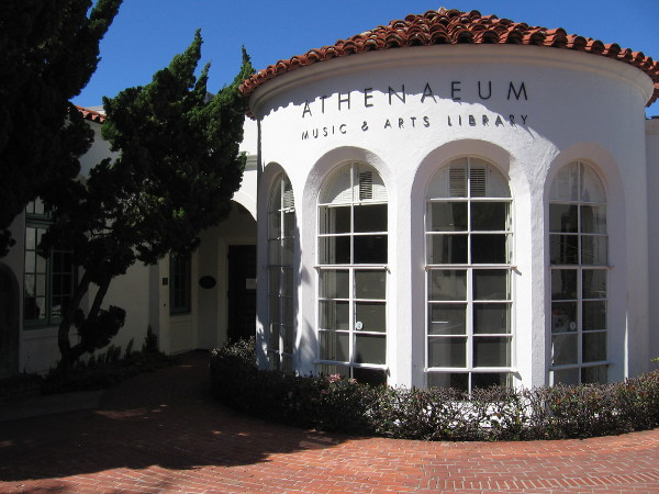 The architecturally handsome Athenaeum Music & Arts Library is freely open to the public in La Jolla. It's a popular venue for art exhibitions, concerts and other cultural events.