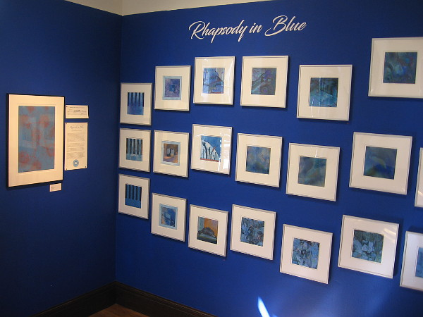 These mysterious, moody pieces interpreting Rhapsody in Blue are like notes of sheet music flowing across a wall.