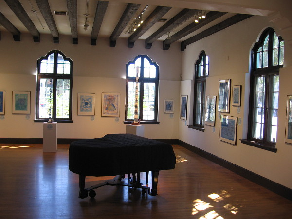 When I visited the Athenaeum, I enjoyed an art exhibition in the Joseph Clayes III Gallery titled Music in the Key of Blue.
