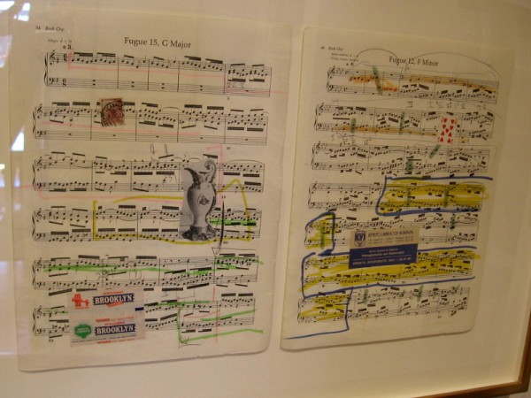 Sheet music collage by Alexis Smith, 1997, used for Athenaeum music program covers 2015/2016.