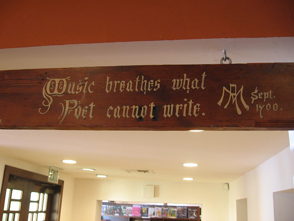 Music breathes what Poet cannot write.
