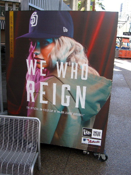 We Who Reign graphic on a vendor cart inside the Park at the Park.