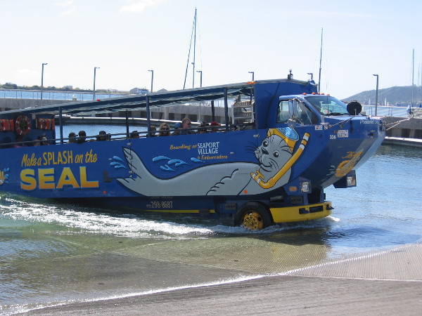 These cool vessels drive right out of the water and up onto the boat ramp!