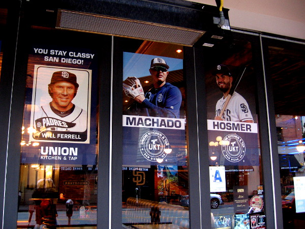 Manny Machado has appeared in a window between Will Ferrell and Eric Hosmer!