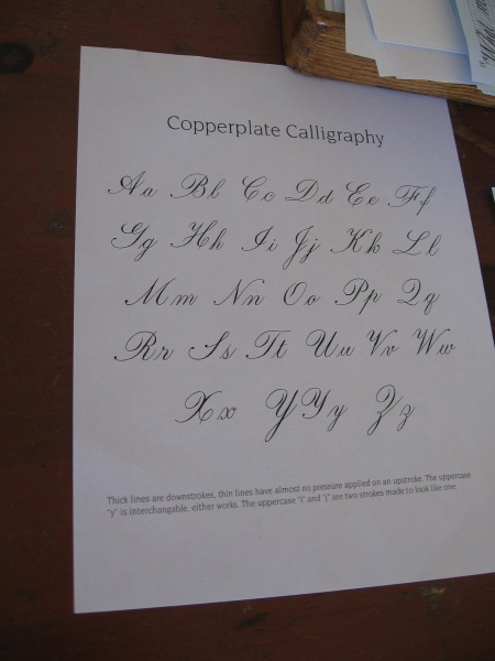 A sample of elegant Copperplate Calligraphy.