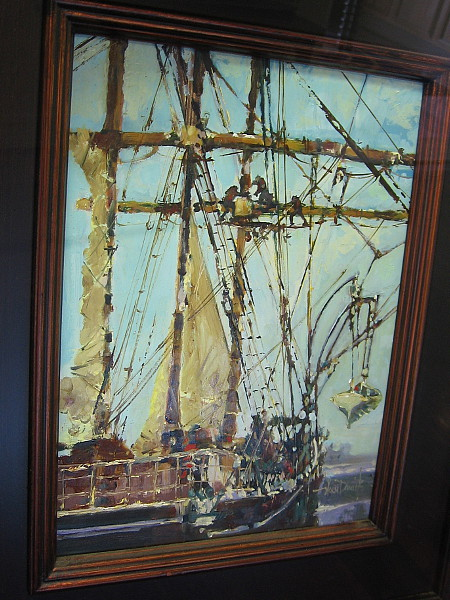 Aloft on STAR of INDIA, by artist Norm Daniels.