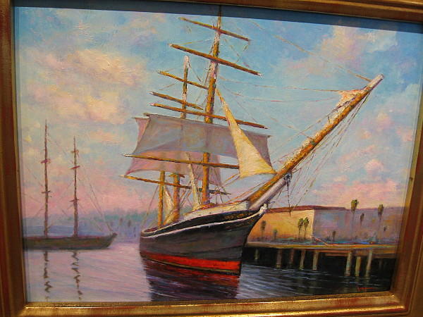 The STAR of INDIA at Sunset, by artist Pamela Ingwers.