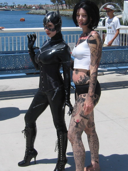 Catwoman and Jane Doe of Blindspot