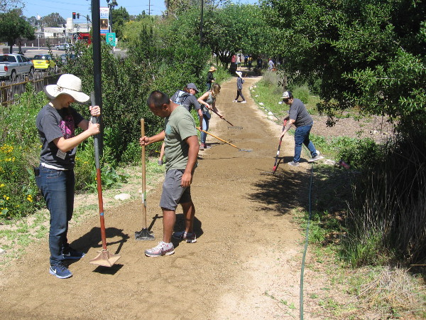 Many volunteers improve the Native Plant Garden near the McCoy House Museum in Old Town San Diego.