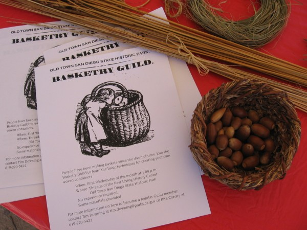 Sheet details how to become a member of the Old Town San Diego State Historic Park Basketry Guild.