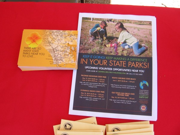This sheet shows upcoming volunteer opportunities in California State Parks!