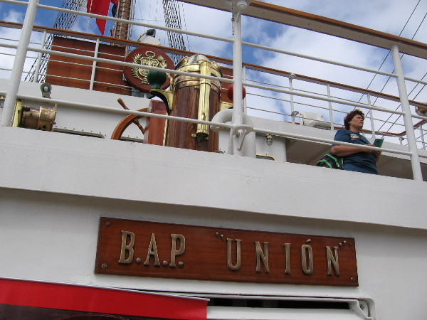 Many cool sights await visitors who come aboard Peruvian Navy training ship BAP Unión.