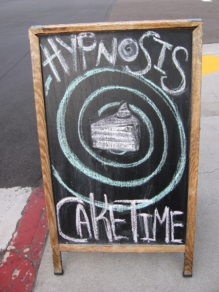 It's HYPNOSIS CAKE TIME at Twiggs Bakery and Coffeehouse!