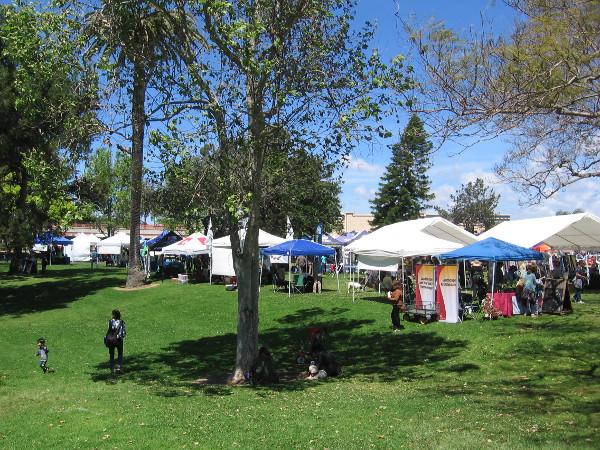 Chula Vista's beautiful Memorial Park provides a bit of green in an urban setting.