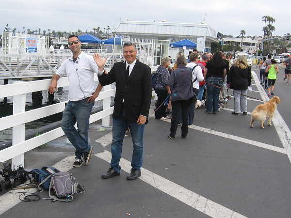 All sorts of local celebrities joined us on the fun cruise. That's Dave Scott of KUSI News!