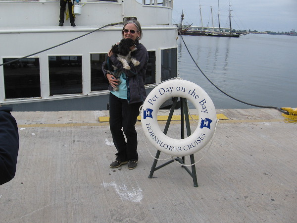 Photos are taken for Pet Day on the Bay.