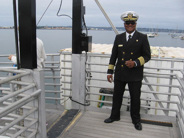 A friendly greeting by the ship's captain!