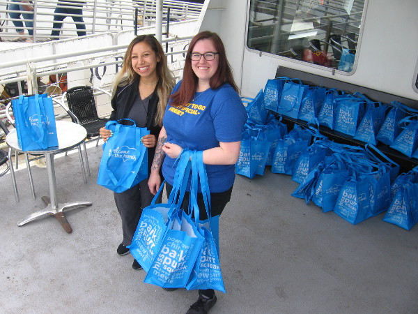 Doggie bags with lots of cool stuff from Petco were handed out to those participating in Pet Day on the Bay.