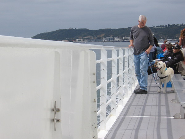The dogs enjoy the amazing views just as much as the humans.