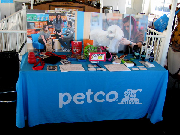 As we headed back toward the Embarcadero, I poked my head inside the ship to see some displays, including one presented by Petco. They also provided doggie treats.