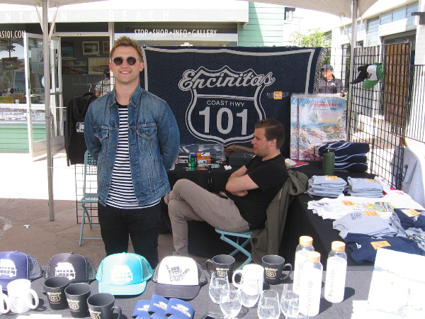 One of the guys at the City of Encinitas booth had a big smile!
