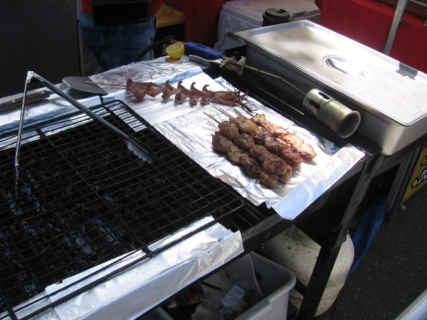 More yummy food on the grill.