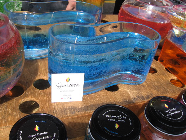Beautiful, translucent Scented Gem Candles in different fantastic shapes could be seen at the Gemtera table.