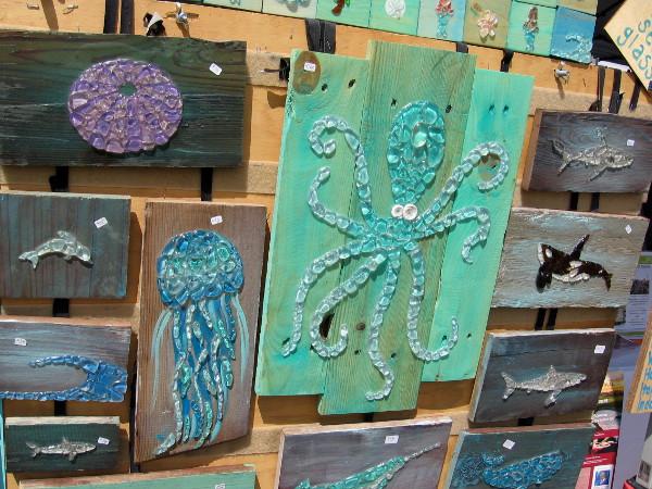 Sea-themed artwork by Marea Baja.