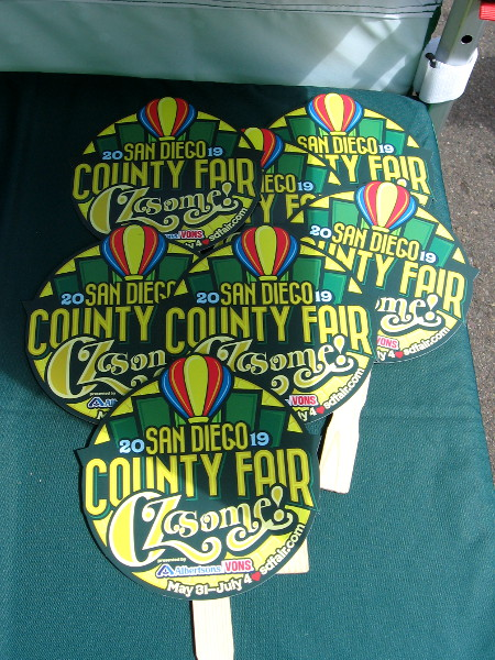 The San Diego County Fair had a table with these free fans. The theme in 2019 is the Wizard of Oz! It's gonna be OZsome!